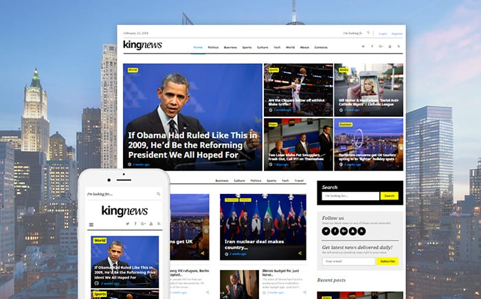 KingNews - Magazine News Portal & Blog WordPress Theme
