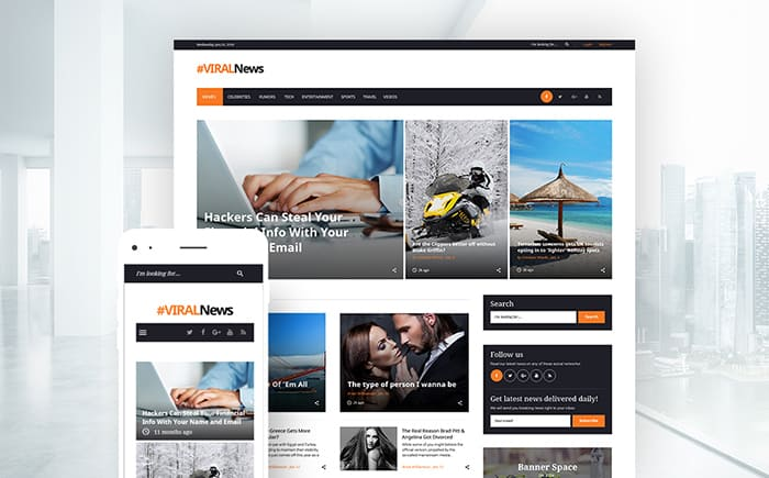Viral News - News Portal & Magazine WordPress Theme