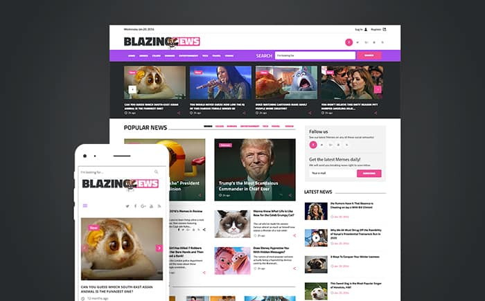 BlazingNews - News Magazine Responsive WordPress Theme