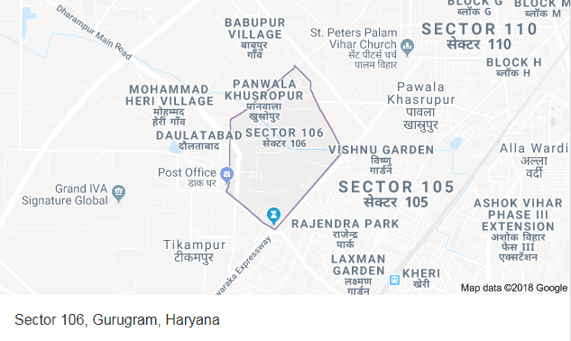 Godrej Meridien Location Map Image