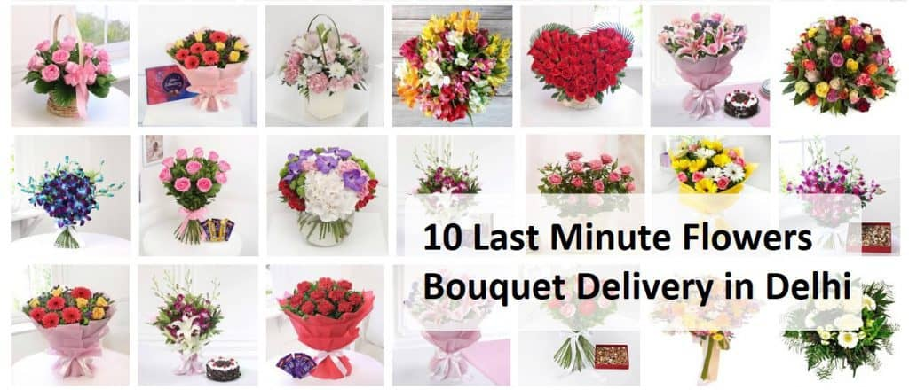 10 Last Minute Flowers Bouquet Delivery in Delhi