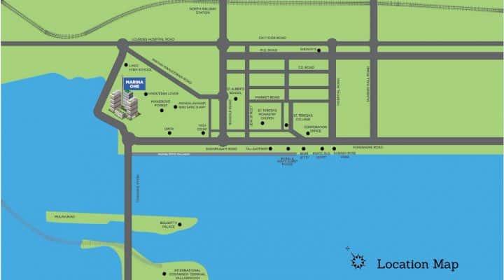 Sobha Marina One location