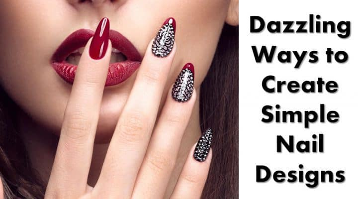 Dazzling Ways to Create Simple Nail Designs Black and White