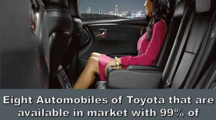 Eight Automobiles of Toyota that are available in market with 99% of Leather Interior