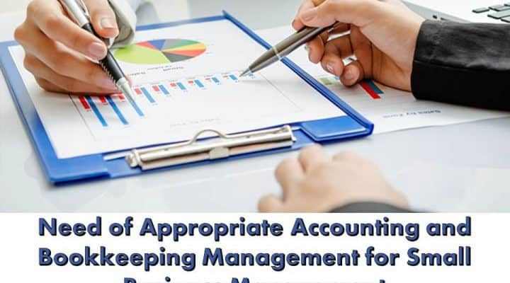 Need of Appropriate Accounting and Bookkeeping Management for Small Business Management