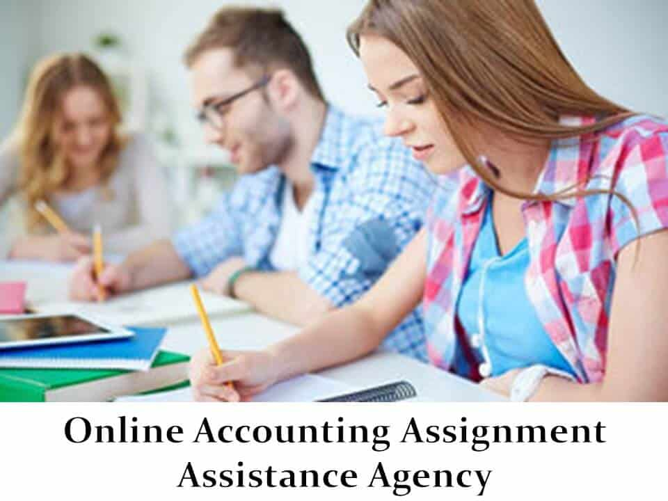 Online Accounting Assignment Assistance Agency